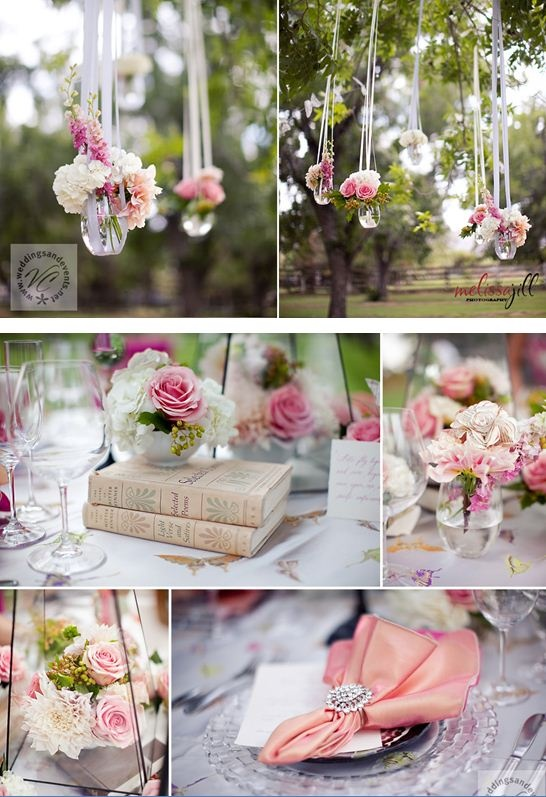 Whimsical romantic tablescape receptions napkin