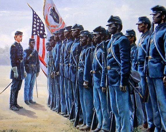 Robert Gould Shaw and the 54th Massachusetts Regiment.