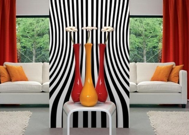 """Wonderful black and white mural perfect to add that extra """"oomph"""" to your home's interior design. http://www.inkshuffle.com/Bench-1317328000"""