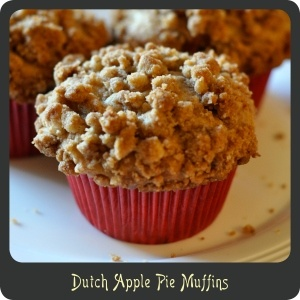 Dutch Apple Pie Muffins—Best apple muffins ever! All the brown sugar gives these a caramel apple quality.