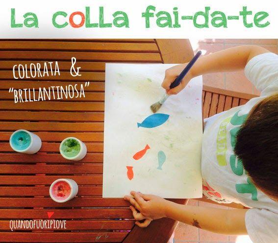 Quandofuoripiove: La ricetta della colla fai-da-te (per bimbi appiccicosi) Homemade glue recipe, with only two ingredients!