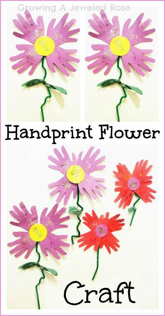 Hand Print Flowers for Spring ~ Growing A Jeweled Rose