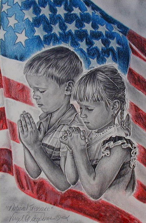 Children Praying for Their Country.....Only God Can and Will Save the Righteous and our Nation.