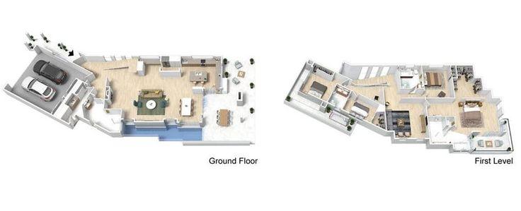 Diseño casa moderna dos pisos con piscina | Construye Hogar