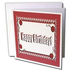 Beverly Turner Birthday Design - Bowing Happy Birthday Red - Greeting Cards-12 Greeting Cards with envelopes by Beverly Turner Photography. $15.95. Bowing Happy Birthday Red Greeting Card is measuring 5.5w x 5.5h. Greeting Cards are sold in sets of 6 or 12. Give these fun cards to your friends and family as gift cards, thank you notes, invitations or for any other occasion. Greeting Cards are blank inside and come with white envelopes.
