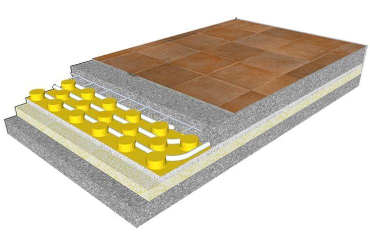 Radiant floor panel ECOfloor E by Rossato Group