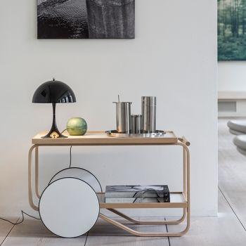 Louis Poulsen Panthella Mini pöytävalaisin, sinivihreä | Pöytävalaisimet | Valaisimet | Finnish Design Shop