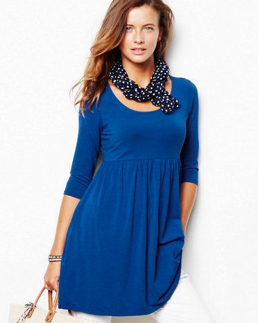Scoop-Neck Knit Tunic