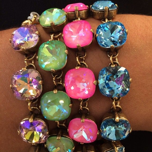 Victoria Lynn handmade in Mississippi,  crystal chain link jewelry!