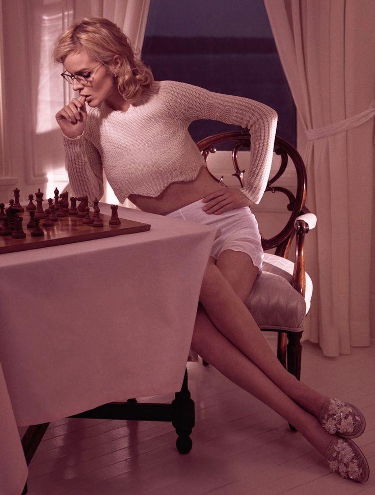 Editorial: Eva Herzigova for Vogue Paris March 2016