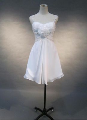 cheap casual hawaiian white short beach wedding dress   Cheap beach wedding dresses Sale