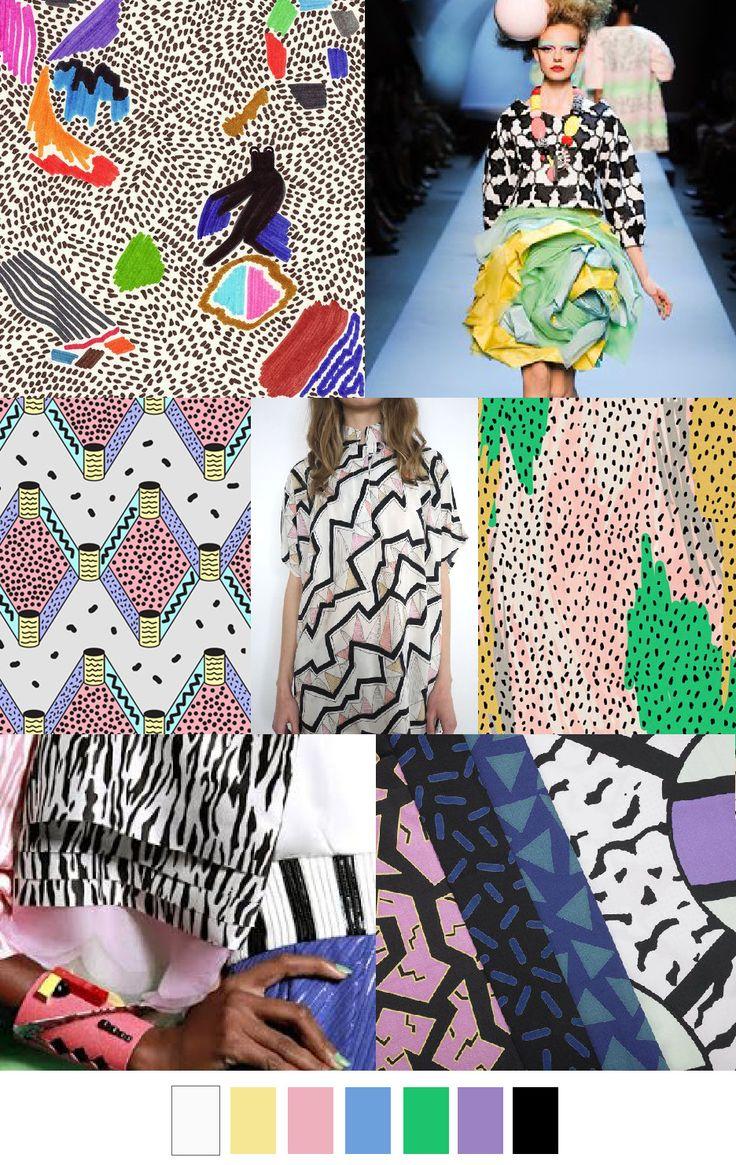 S/S 16 WALKING IN MEMPHIS from the pattern curator #üçgengezegenler #fashion #trends
