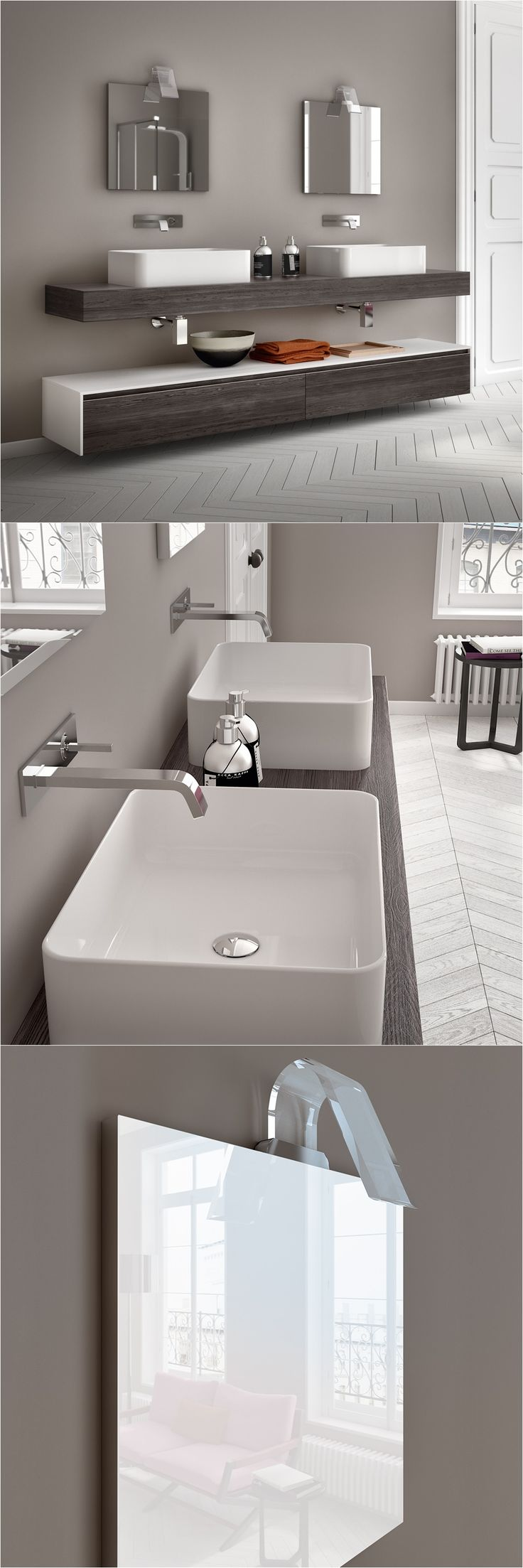 CHANGE Collection • COMPOSITION 02 - Bathroom furniture. HAFRO GEROMIN » Gruppo Geromin