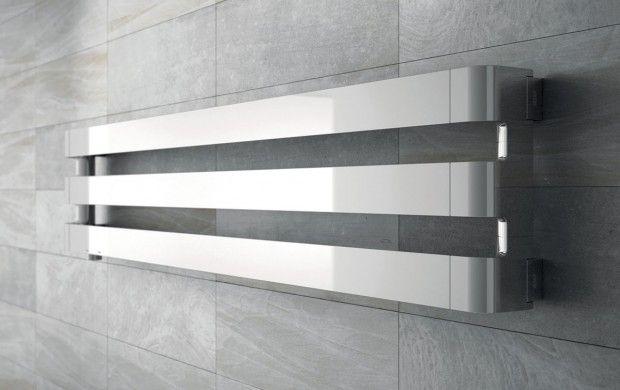 #radiador Step decorativo de pared cromado #diseño de Antonio Citterio & Sergio Brioschi para Irsap #madeinitaly