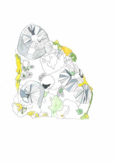 "Saatchi Art Artist Hanna Gro; Painting, ""CLINOCLASE mineral"" #art"