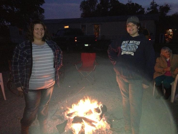 Bon fire with dear friends.
