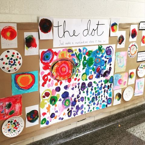 "September 15th was National Dot Day! It is based around Peter Reynolds wonderful book called ""The Dot."" My friend Mrs. K joined us and we dr..."