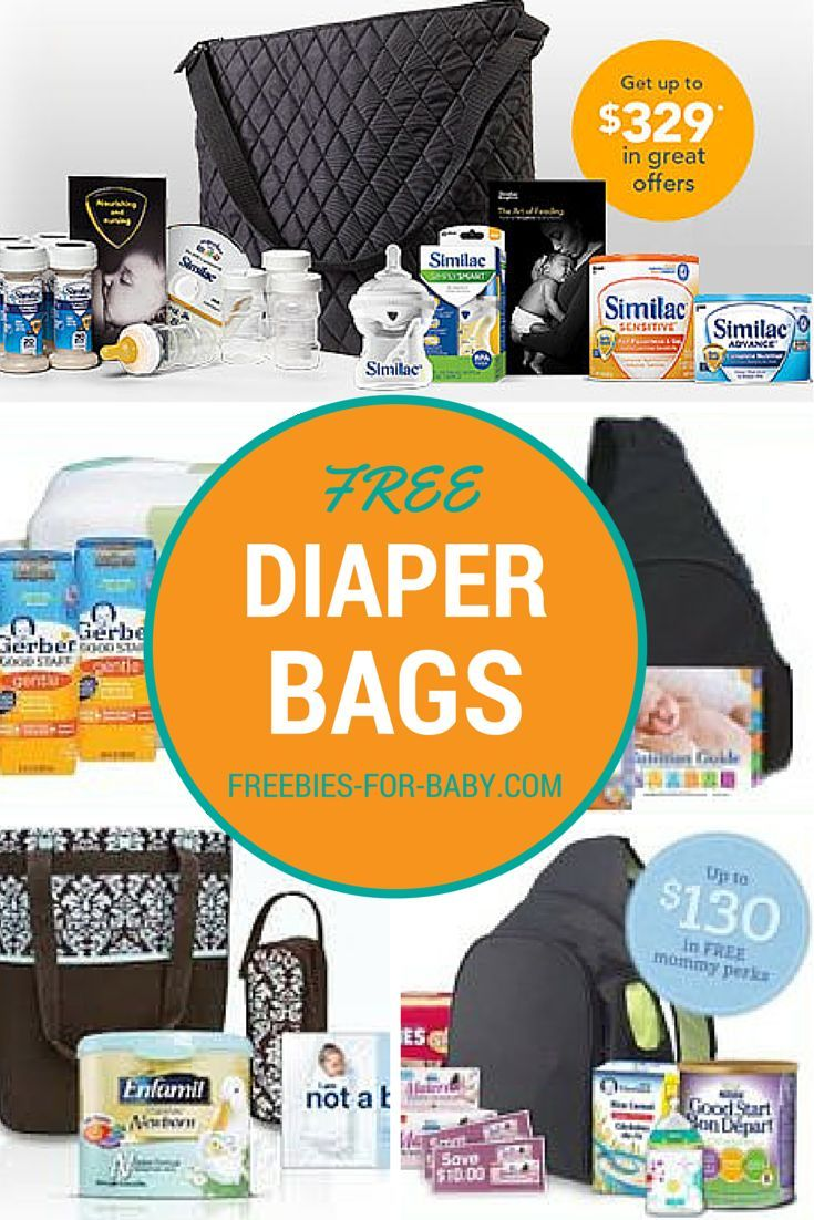 5 Free Diaper Bags by Mail - Get free diaper bags from Gerber, Enfamil, Similac, Nestle, plus lots more free baby stuff!
