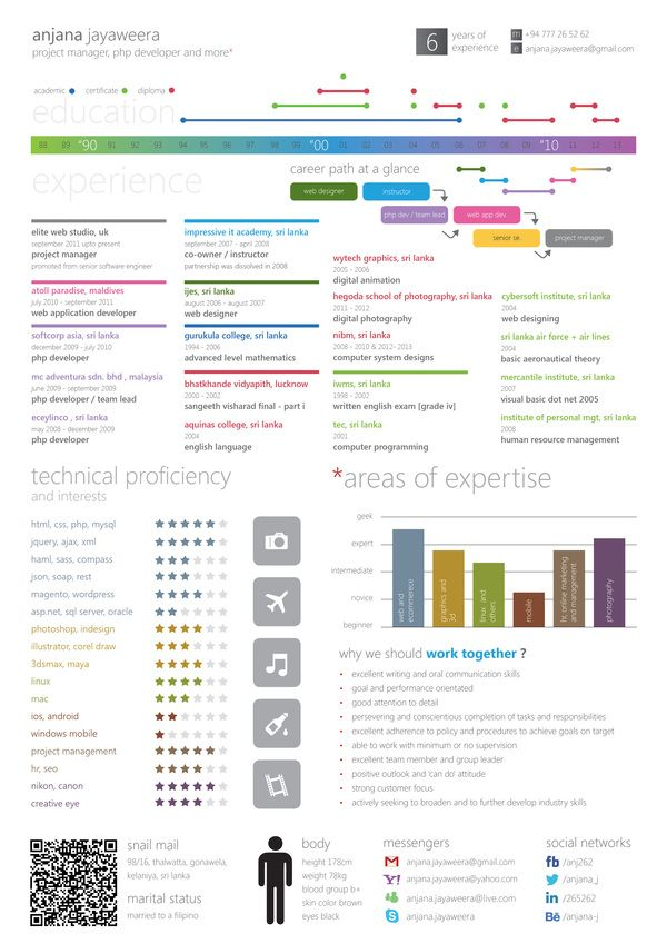 Best Infographic And Visual Resumes Images On