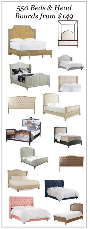550 beds and headboards from $149. Affordable and stylish.