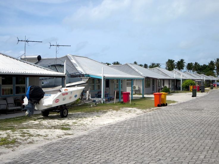 Some 400 Cocos Malay people lives in homes such as these along Jalan Kembang Molok on Home Island, Cocos (Keeling) Islands.