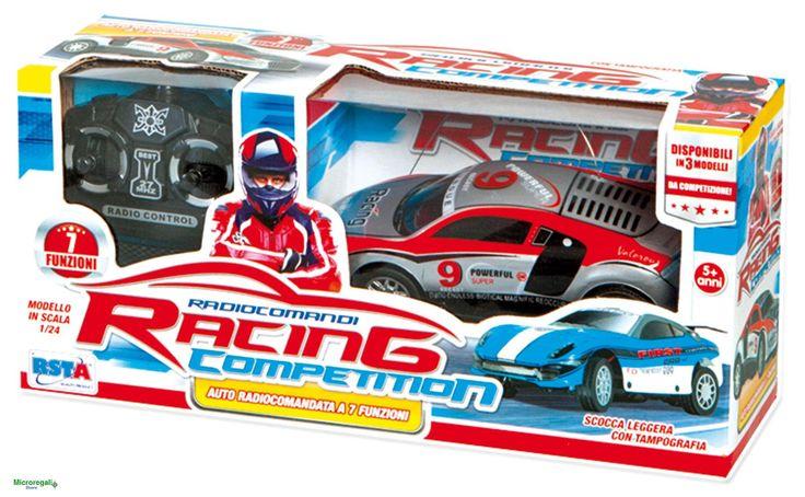 AUTO GRIGIA RADIOCOMANDO Racing Competition scala 1/24 bambini 5 anniFantastica auto radiocomandata, per giocare e inventare corse ed avventure. Radiocomando a 7 funzioni per tanto divertimento.L'auto funziona a Pile (2 x stilo AA + 2 x stilo AA radiocomando non in dotazione).Dimensioni Auto cm 16 x 7 x 5,5Dimensioni Scatola cm 30 x 14 x 10Materiale: plastica.Pile Occorrenti (non in dotazione) 4 x Stilo AAAdatto per bambini di eta' superiore a 5 anniMarchio CE