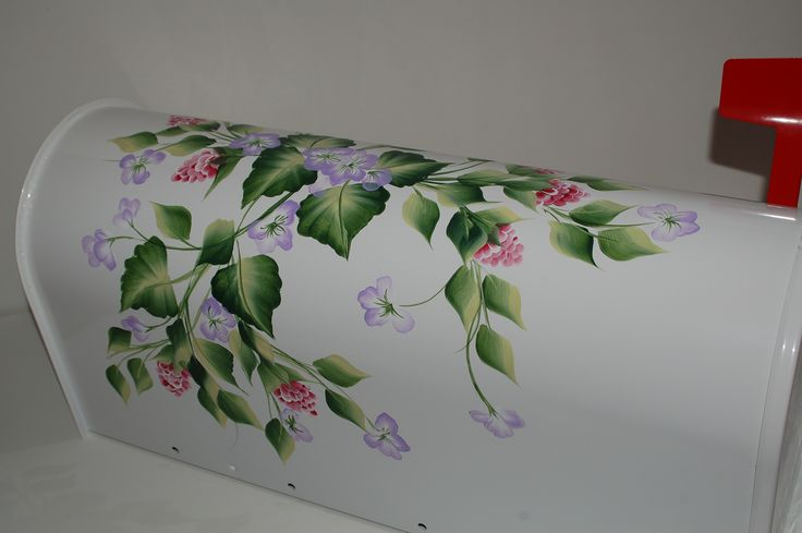 Painted Mailboxes | Hand Painted Wall Mount Mailboxes