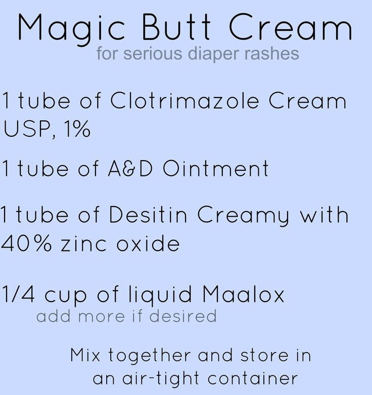 Magic Butt Cream recipe for serious diaper rash- this will heal any diaper rash!