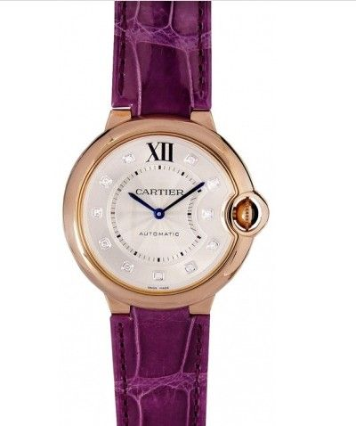 Cartier Ballon Bleu Unisex Silver Dial 18K Pink Gold WE902028