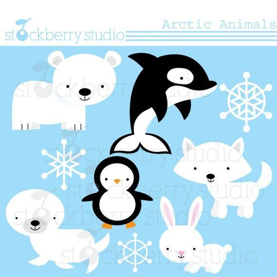 cute arctic animals clipart