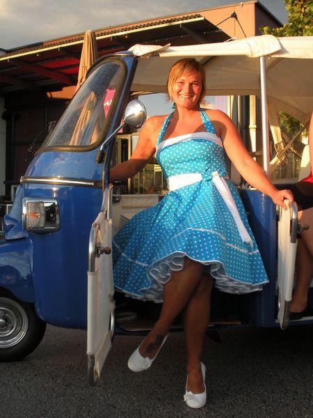 Petticoatkleider - 50er-Jahre Petticoatkleid Linda - ein Designerstück von Schneiderei-Heike-Borchers bei DaWanda