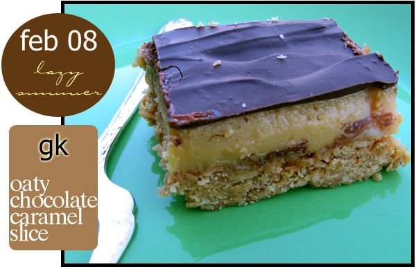 Oaty Chocolate Caramel Slice