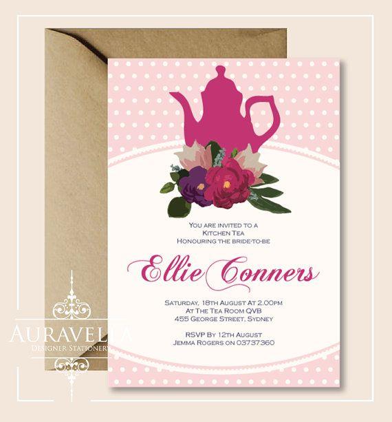 bridal shower tea invitations
