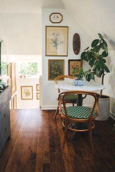 I love the hardwood floors and the simple white walls