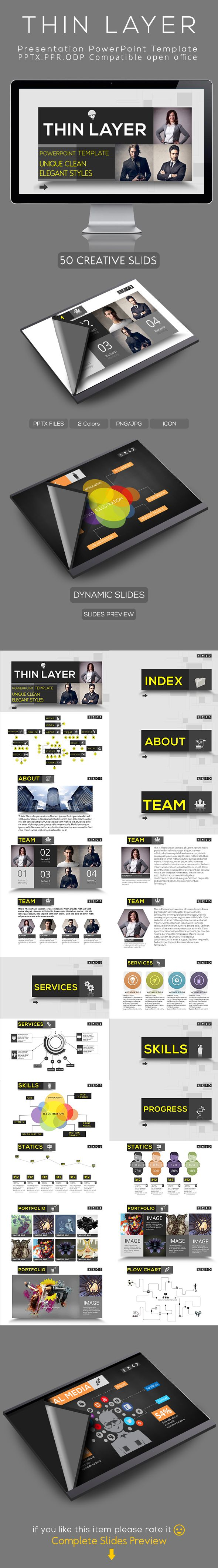Thin Layer Powerpoint Presentation Template on Behance