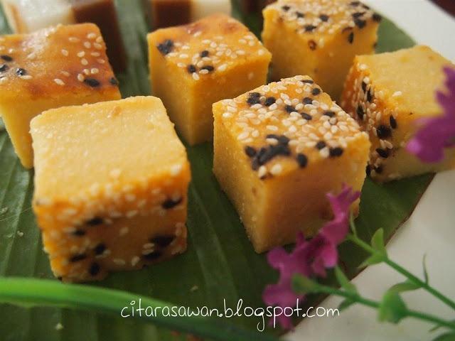 Recipes today - Bingka Durian / Kuih Bakar Durian
