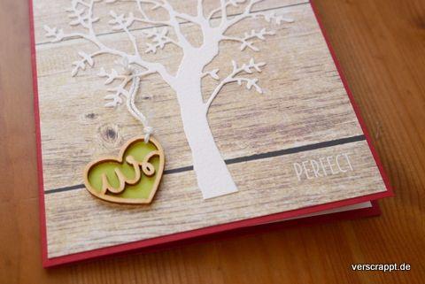 Hochzeit-Karte-Hochzeitskarte-einfach-modern-Holz-Holzmaserung-wir-perfekt-us-perfect-Baum-weiß-Perlen-Wood-Veneer-Detail-Holzteil-Aufkleber