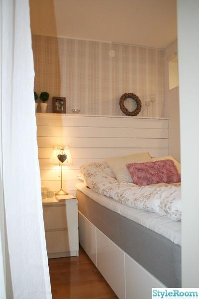sovalkov,säng,plankvägg,new england,romantiskt,sänggavel