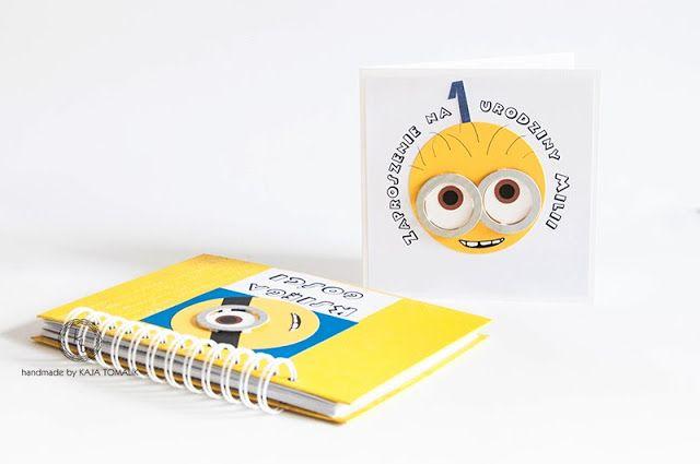 minions, handmade card
