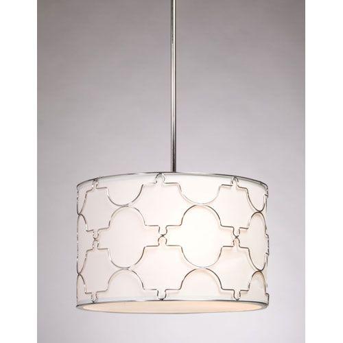 Sent by KD - Morocco Chrome Four Light Chandelier Steven Chris Lighting Drum Pendant Lighting Ceiling L