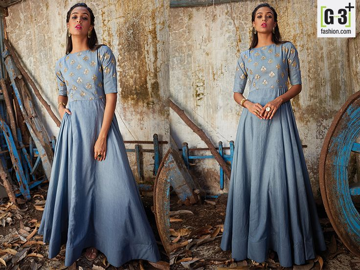 Amazing Blue Silk Anarkali Suit