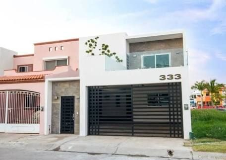 Fachadas de casas de 10 metros de frente de un piso for Casa minimalista 80 metros