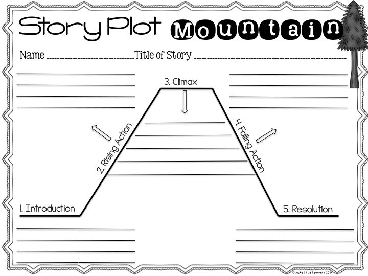 Ridiculous image regarding story mountain printable