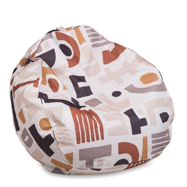 Madu Print Bean Bag w/Piping | Citta Design $144