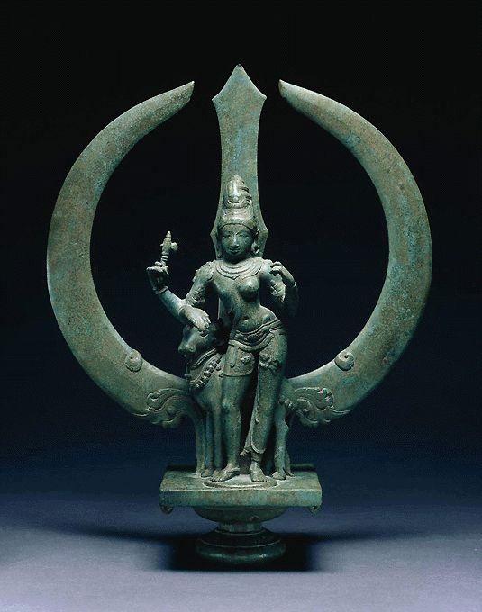 Shiva Ardhanarisvara with Trishul-astra Chola Bronze, late 11th c.