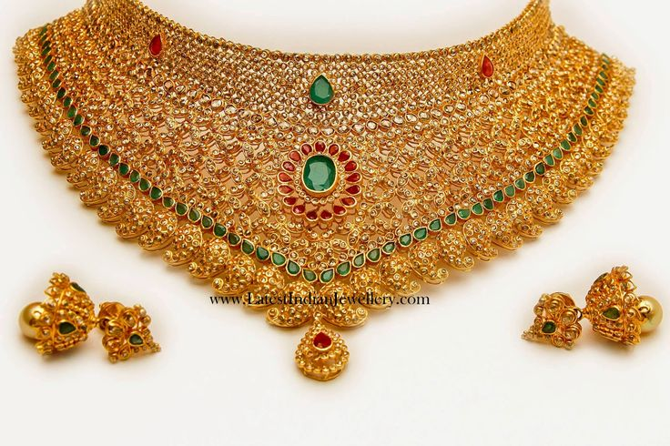 Uncut Diamond Bridal Choker Necklace |Extravagant beauty