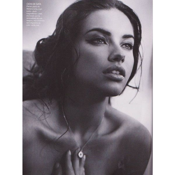 Adriana Lima Vogue Spain 5 ❤ liked on Polyvore featuring people