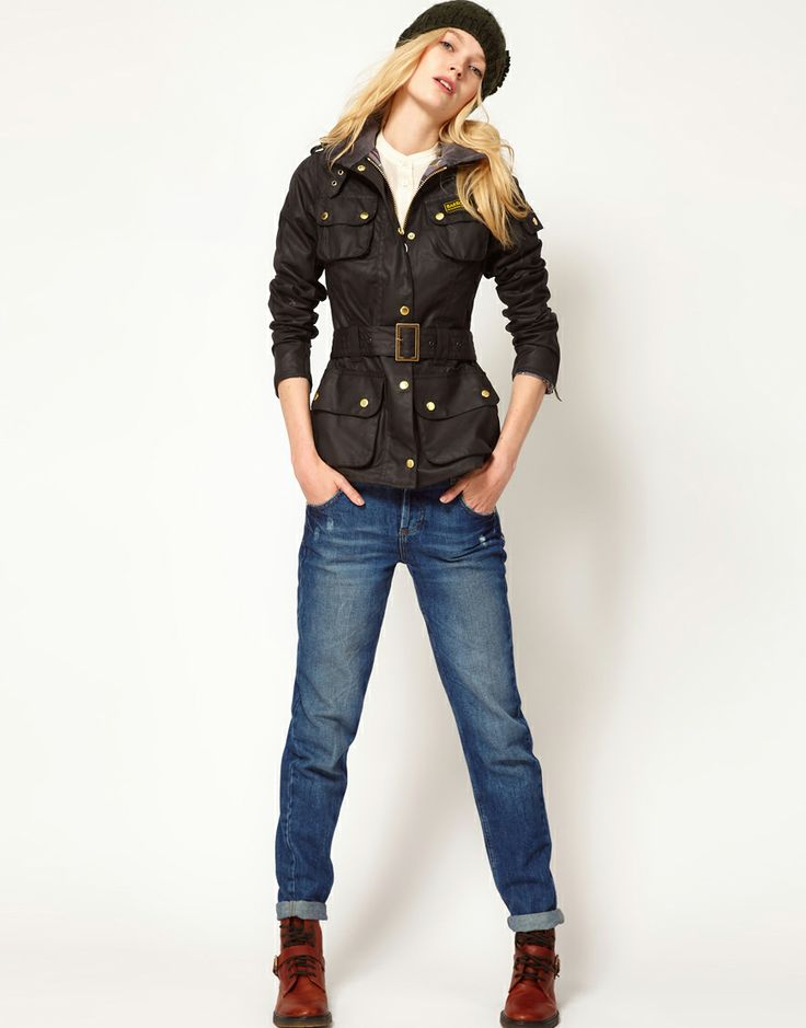 "#Barbour ""International"" wax jacket from #ASOS. Cool twist from the #classic. I need this desperately! But who doesn't?"