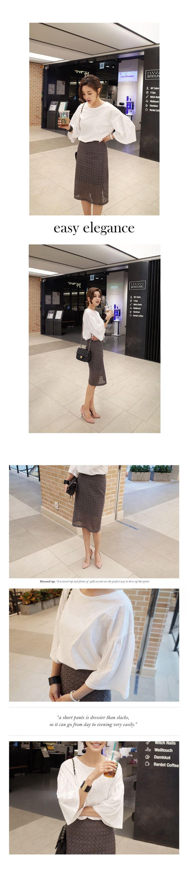 パンチングレースタイトミディスカート・全3色ワンピース・スカートスカート|大人のレディースファッション通販 HIHOLLIハイホリ [トレンドをプラスした素敵な大人スタイル]