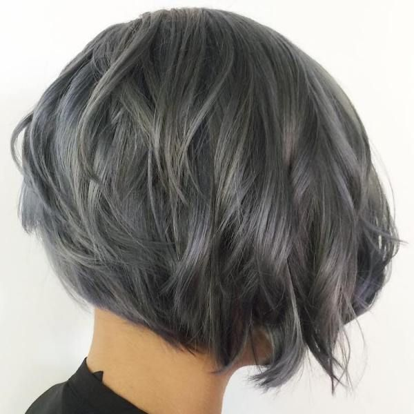 grey hair short haircuts 1000 ideas about layered wavy bob on 3688 | a47818be34b42f623591a5ced2058883